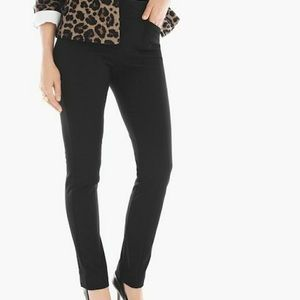Chicos So Slimming Black Crepe Ponte Pull On Pants